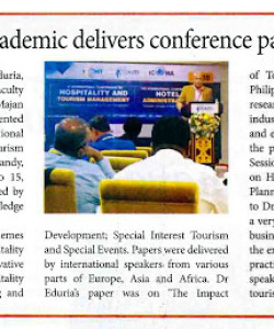 Majan College Academic Delivers Conference Paper in Kandy, Sri Lanka