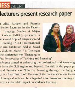 MUC lecturers present research paper