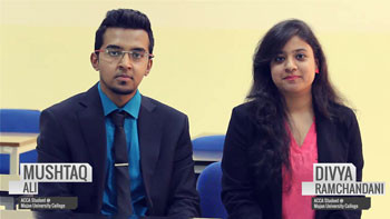 From the ACCA Champs: Mushtaq and Divya