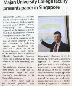 Paper in Singapore