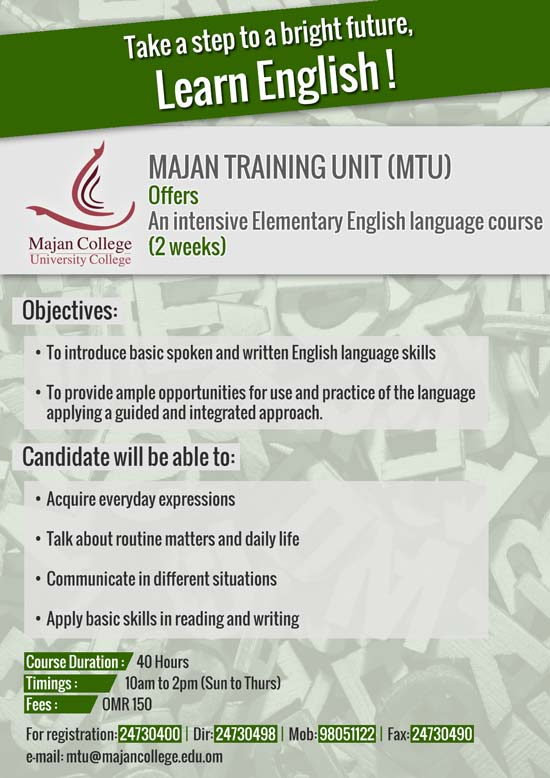 Intensive English Elementary