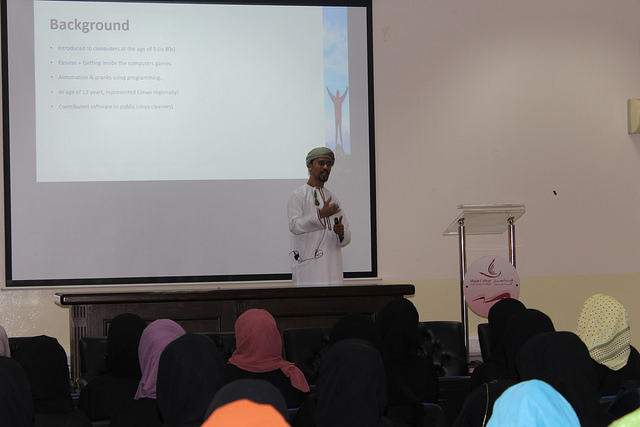 Talk by Tariq Al-Barwani